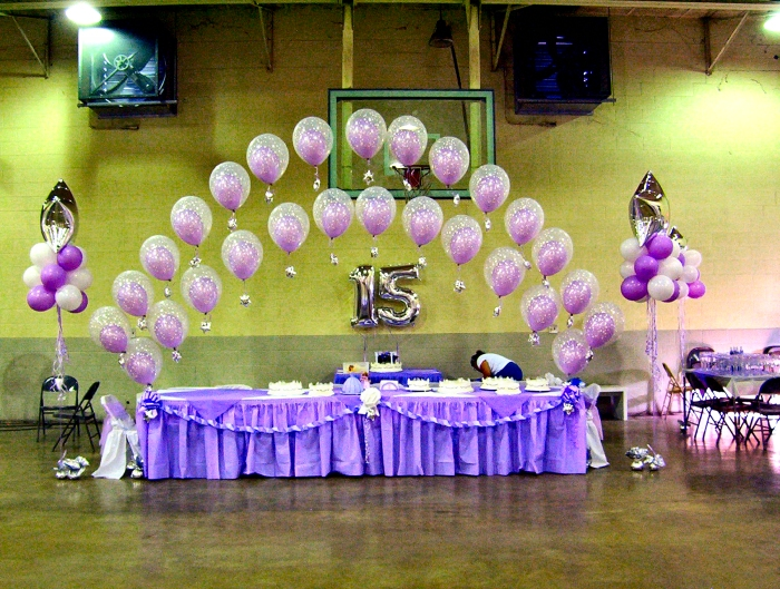 Quinceaneras for Balloon decoration ideas for quinceaneras